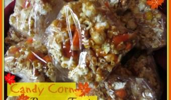 Candy Corn Popcorn Treats
