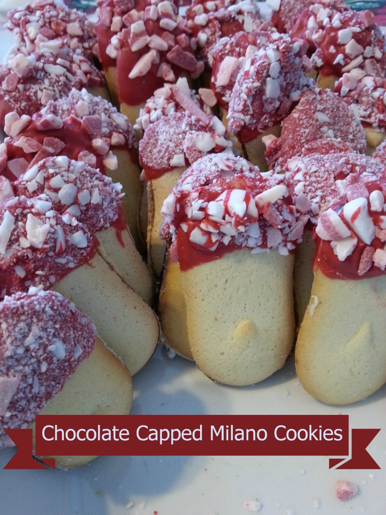 Chocolate Capped Milano Cookies