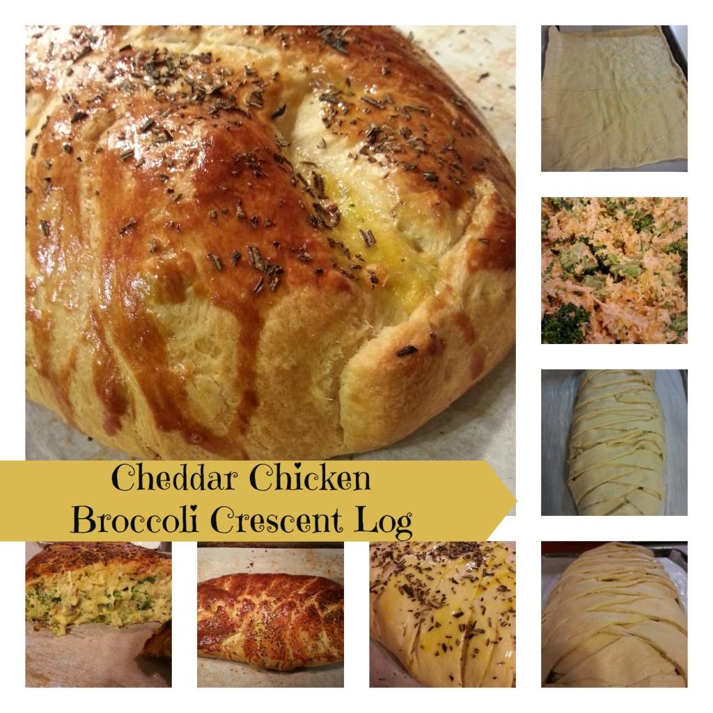 Cheddar Chicken Broccoli Crescent Log
