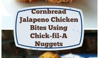 Cornbread Jalapeno Chicken Bites Using Chick-fil-A Nuggets