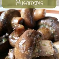 3 Ingredient Slow Cooker Ranch Mushrooms