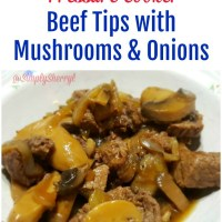 Pressure Cooker: Beef Tips with Mushrooms and Onions