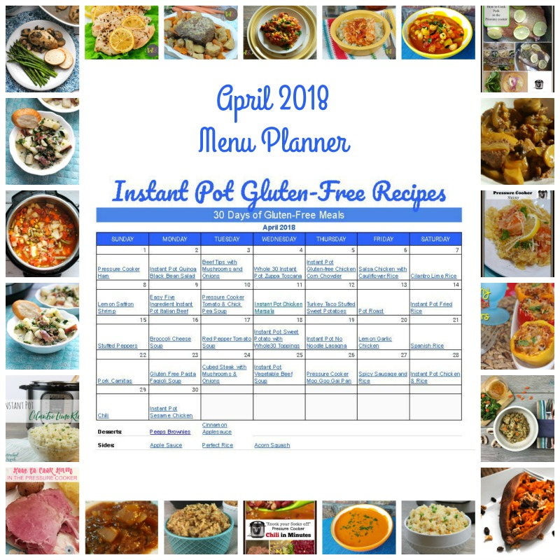 30 Days Instant Pot Gluten Recipes