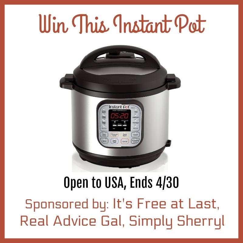 Instant Pot Pressure Cooker Giveaway