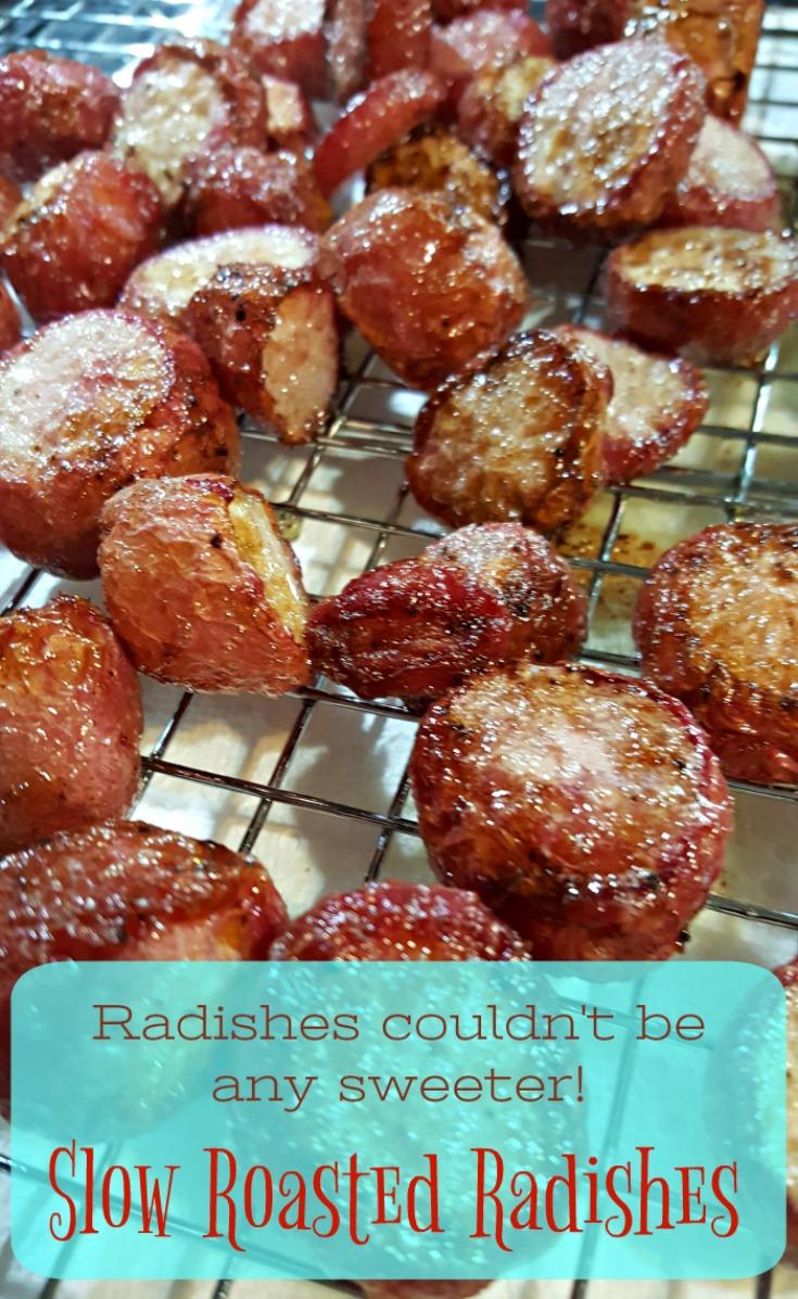 Slow Roasted Radishes. Change spice to sweetness by slow roasting.