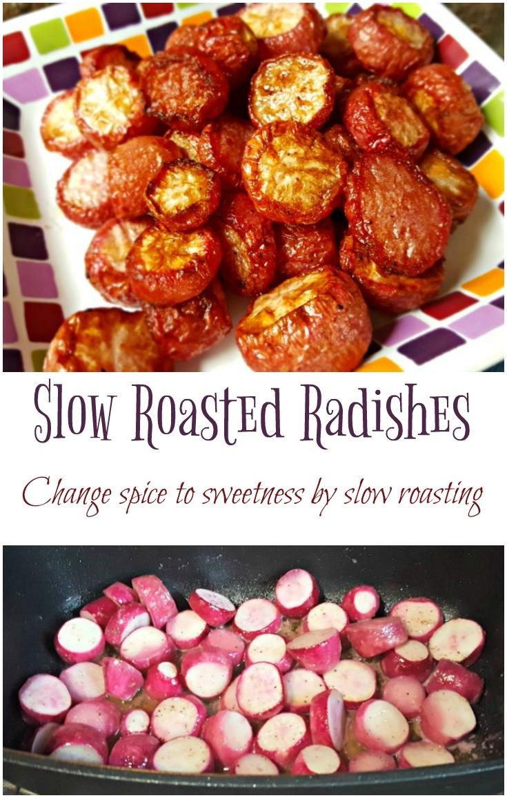 Slow Roasted Radishes