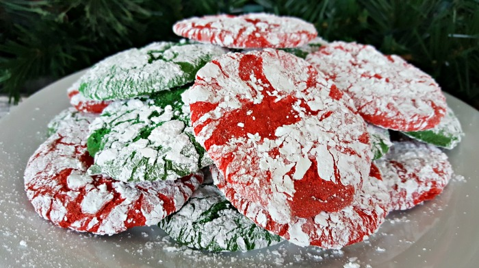 Holiday Crinkle Cookies