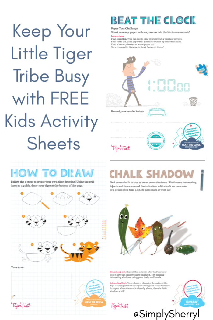 Keep Your Little Tiger Tribe Busy with FREE Kids Activity Sheets
