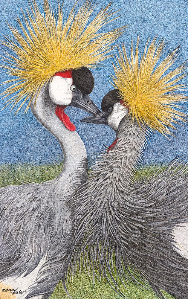 Let Me Call You Sweetheart | Grey Crowned Cranes