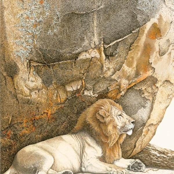 Sherry Steele Artwork - Rock of Ages   Lion