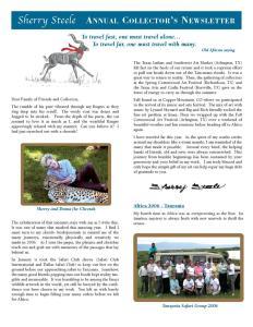 2007 Sherry Steele Newsletter
