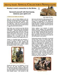 2008 Sherry Steele Newsletter