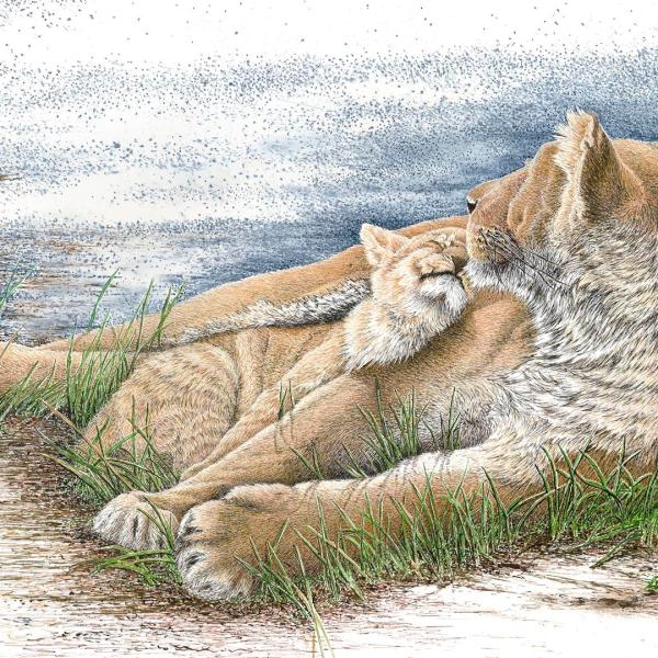 Sherry Steele Artwork - This Magic Moment | Lions