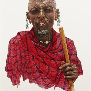 Sherry Steele Artwork - Wisdom in His Eyes