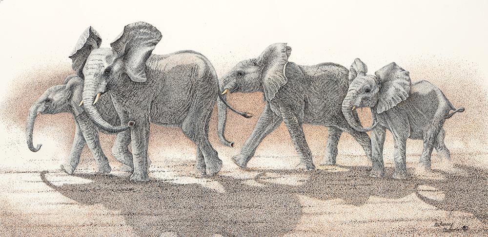 Mischief Brewing Elephants Sherry Steele Artwork
