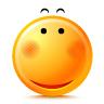 blushing smile emoticon