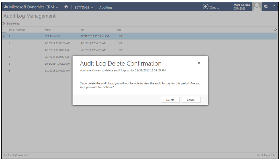 Carrying Out Audits in Dynamics 365
