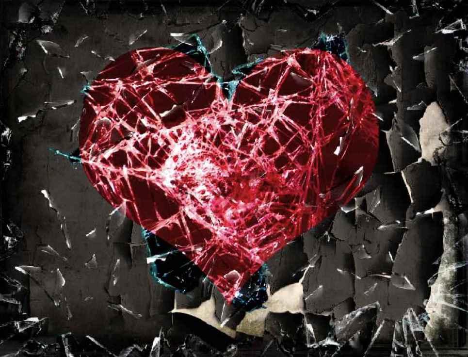 Картинка с разбитым сердцем на маленькие осколки данной фотографии