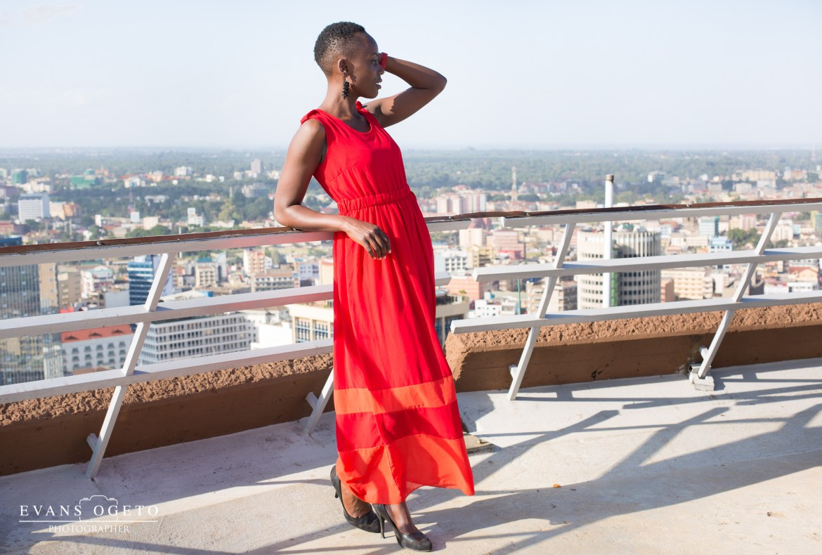 Shes a tomboy-Long Red Dress-1
