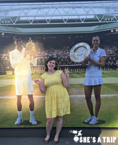 Champion Emily at Wimbledon