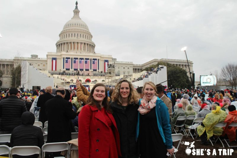 What was it like at Trump's inauguration close seats to the Capitol