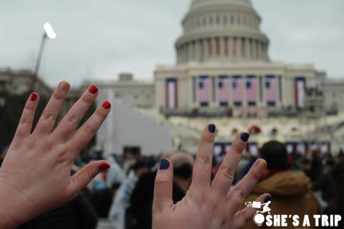 What was it like at Trump's inauguration patriotic nails