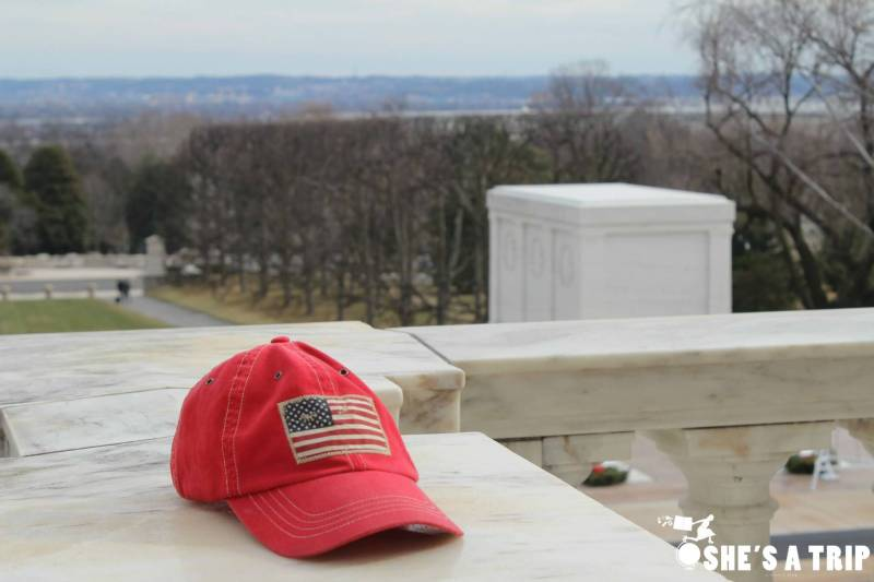 What was it like at Trump's inauguration tomb of the unknown solider american flag