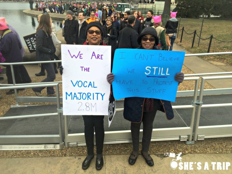 What was it like at the women's march on Washington