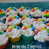 She's Creative | Taste The Rainbow Cupcakes