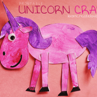 Free Printable Unicorn Craft