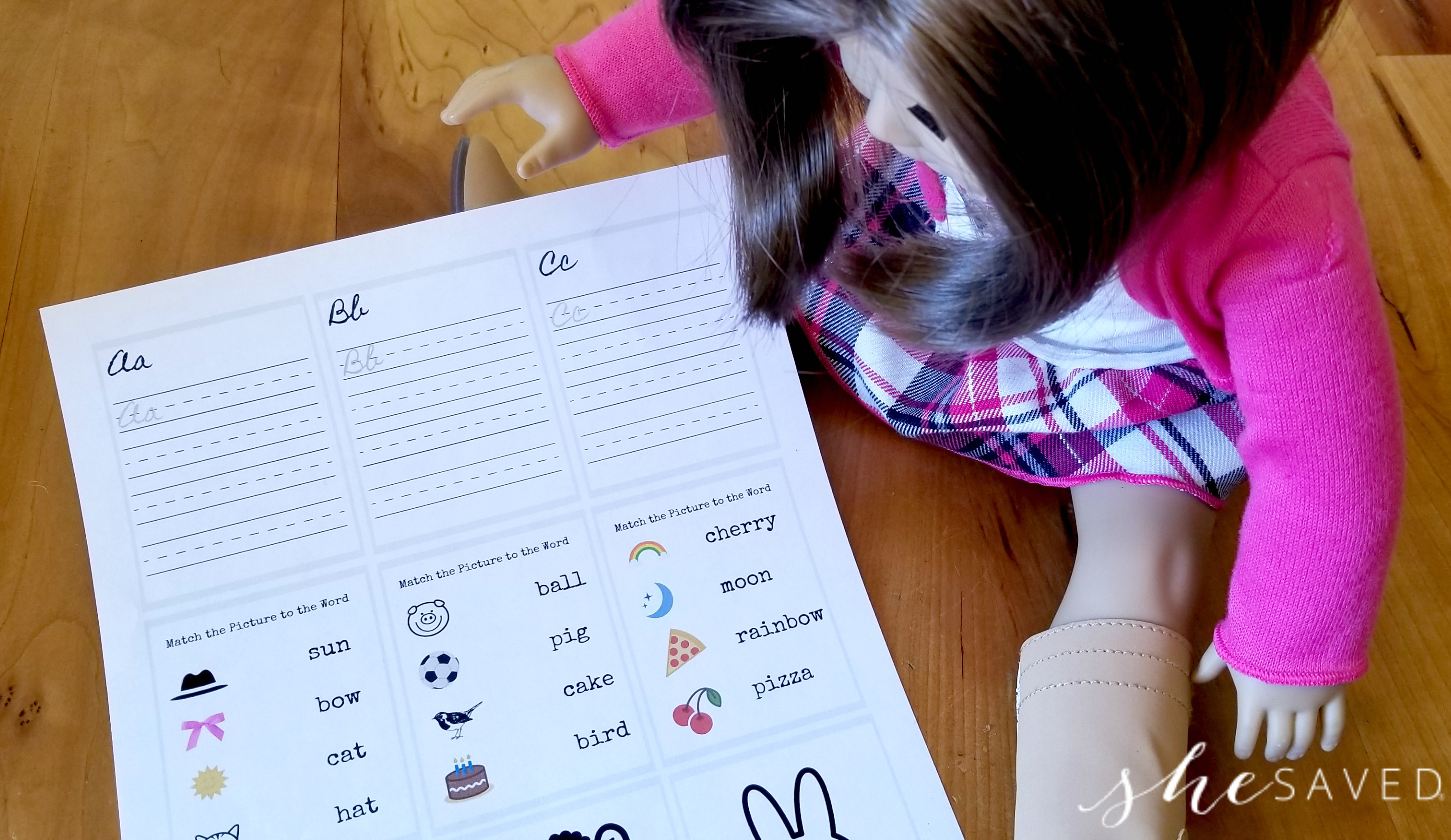 Free Doll Printable School Worksheets