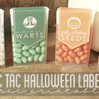 FREE Printable TIC TAC Halloween Labels