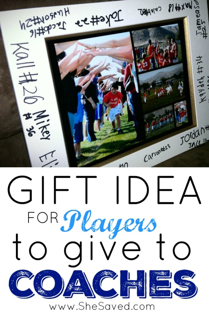 Here is a great coach gift idea for your players to give as a thank you for all of those long hours! Easy and affordable this is a gift that coach will cherish for years to come!