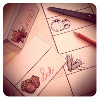 FREE Printable Craft: Thanksgiving Place-cards