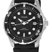 Mens Black Quartz Watch for $28 Shipped