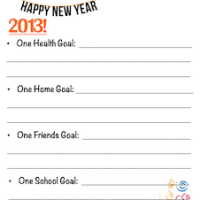 New Years Resolutions for Kids | Free Printable