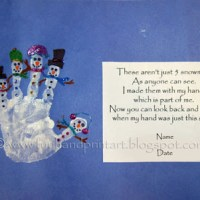 Kids Crafts | Handprint Snowman