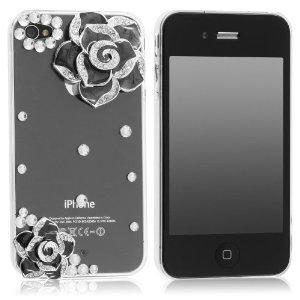 Crystal Rhinestone Flower iPhone Case