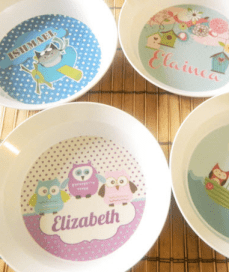 Personalized Plates and Bowls