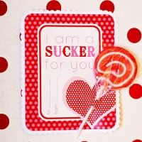 FREE Printable Valentine Sucker Card