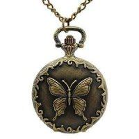 Butterfly Watch Necklace for $3.76 Shipped