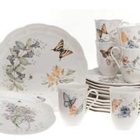 Lenox Butterfly Meadow Dinnerware Set For $118.98 Shipped