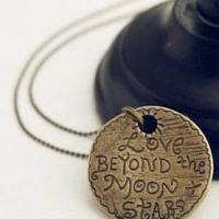 Love Beyond The Moon & Stars Pendant For $3.59 + FREE Shipping