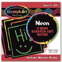 Neon Mini Scratch Notes For $4.99 + FREE Shipping