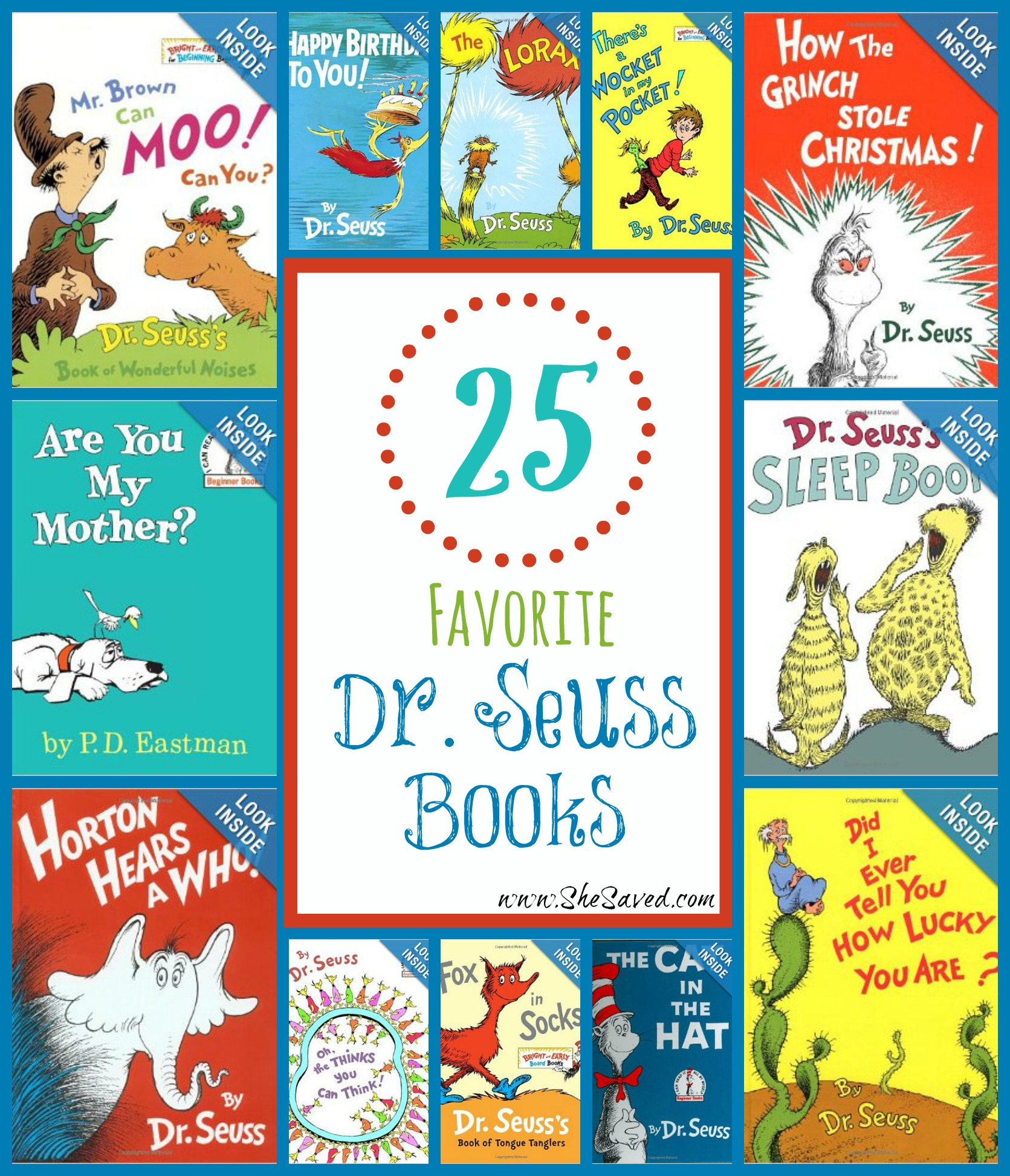 25 Favorite Dr Seuss Books