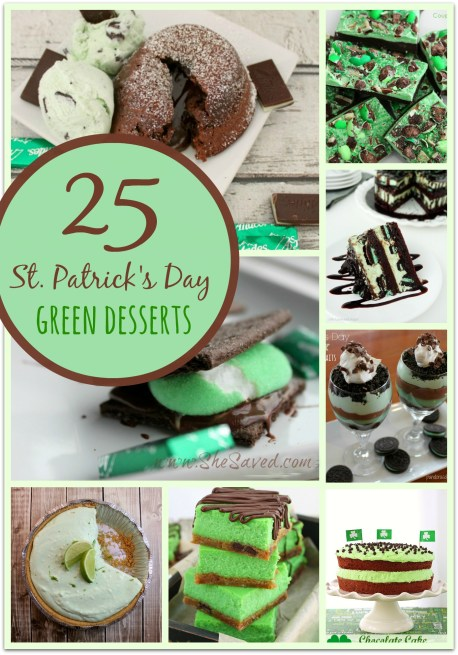 25 St. Patrick's Day Green Desserts