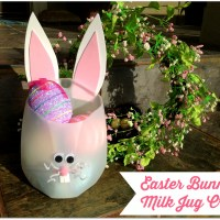 Easter Bunny Milk Jug Craft