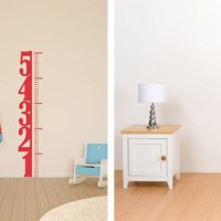 Growth Chart Decals For $13.99