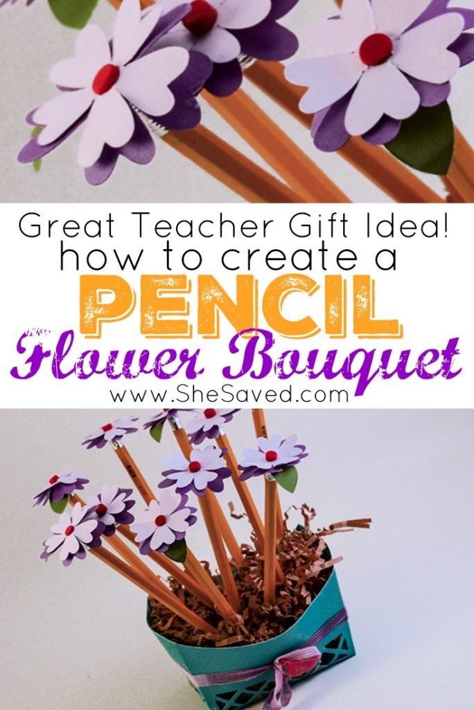 Isn't this Pencil Flower Bouquet the cutest? Easy to make and such a fun and affordable teacher gift to give!