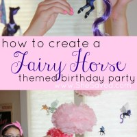 Fairy Horse Themed Birthday Party